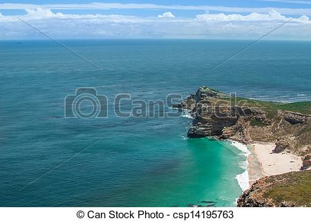 Stock Image of Cape of Good Hope. Cape Peninsula Atlantic ocean.