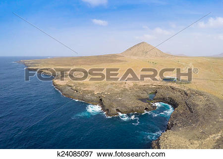 Picture of Aerial view of Buracona in sal Island Cape Verde.