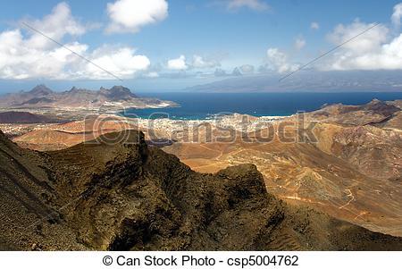 Stock Photo of Monte Verde on Sao Vicente, Cape Verde islands.