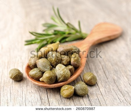 Capers Stock Photos, Royalty.