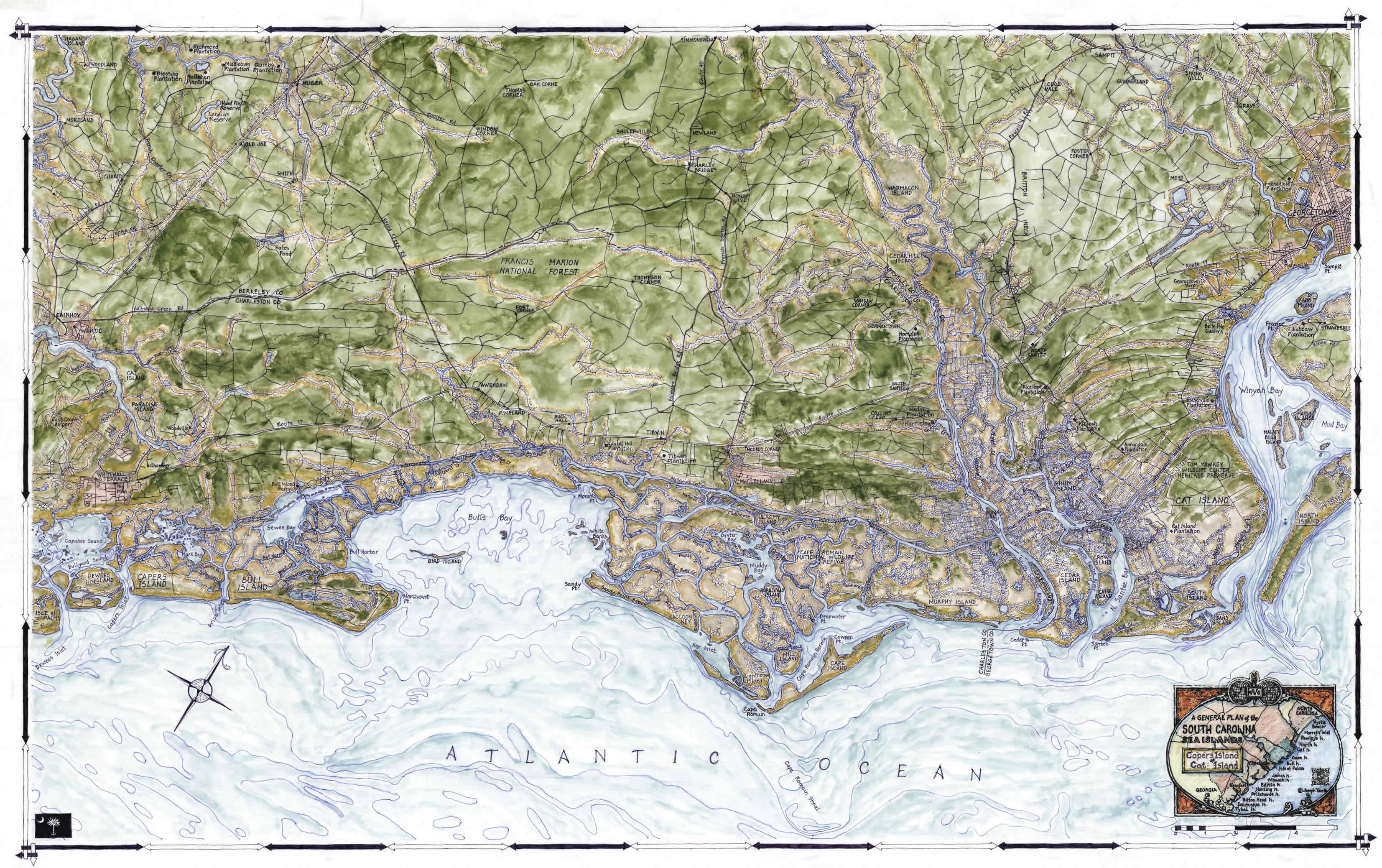 Coastal Art Maps.