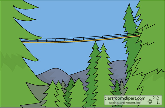 Suspension Bridge Clipart.