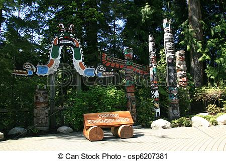 Stock Photography of Totem Pole.