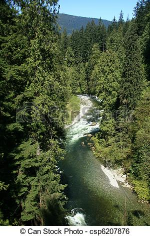Stock Image of Capilano Suspension Bridge, Vancouver, Canada.