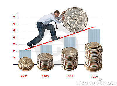 Money And Increase Of The Capital. Stock Photos.
