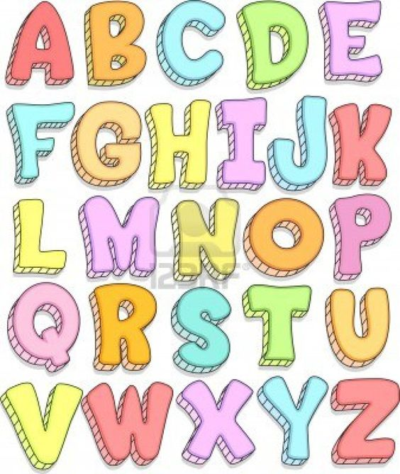 Doodle Illustration Featuring the Capital Letters of the Alphabet.