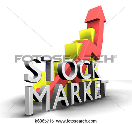 Clip Art of Statistics graphic with sales stock market k5332582.