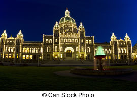Stock Photo of Beautiful view of Inner Harbour of Victoria, B.C..