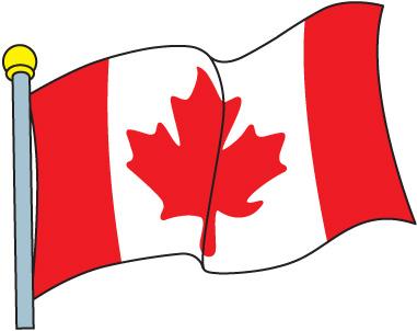 Canada flag clip art.