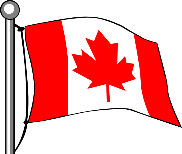 Canada Flag Flying Clip Art at Clker.com.