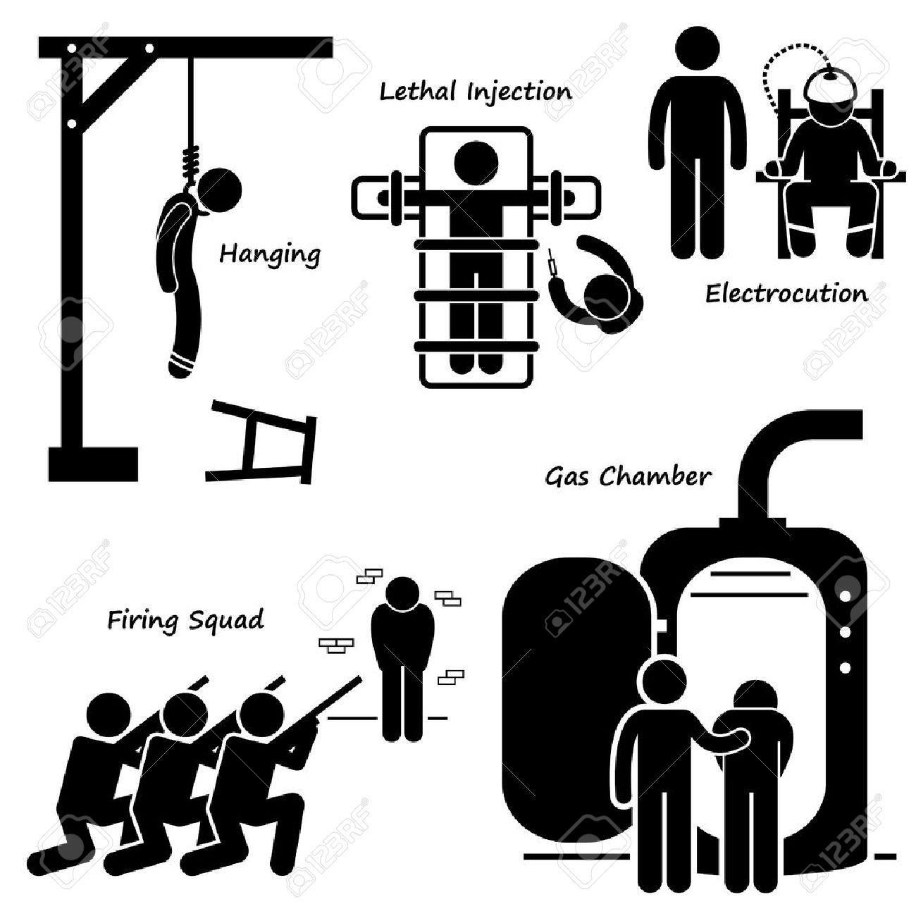 Execution Death Penalty Capital Punishment Modern Methods Stick...