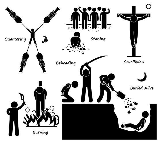 Execution Death Penalty Capital Punishment Ancient Methods.