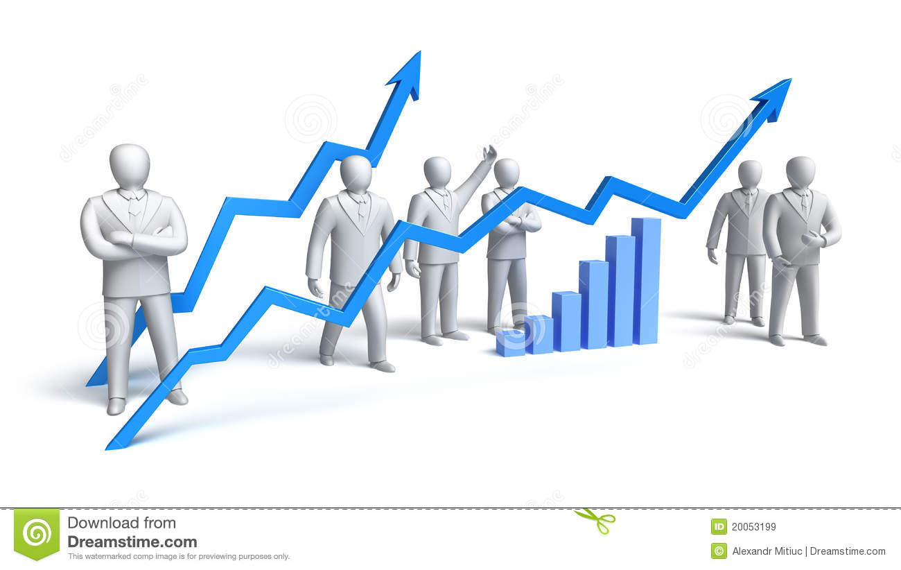 Stock Market Concept Royalty Free Stock Images.