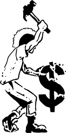 Smash Capitalism clip art Clipart Graphic.