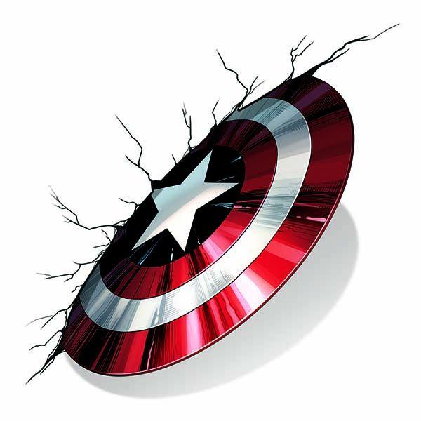 Avengers Captain America Shield Temporary Tattoo.