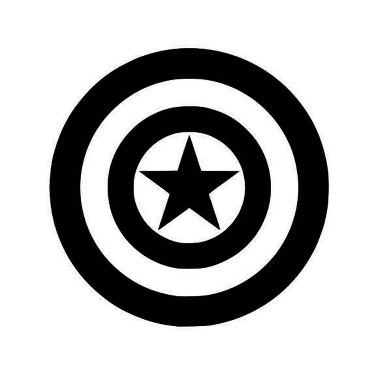 Captain America Captain American Logo Captain America Vinyl Sticker.