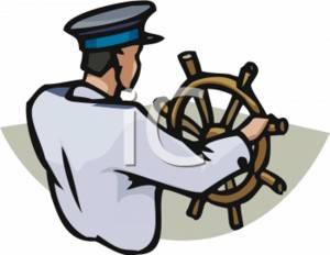 Ship captain clipart.