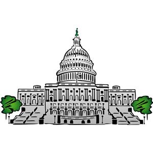 Capitol building dc clipart.