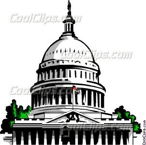 Capitol building Vector Clip art.
