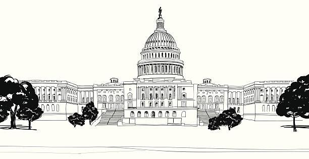 Capitol Building Washington Dc Clip Art, Vector Images.
