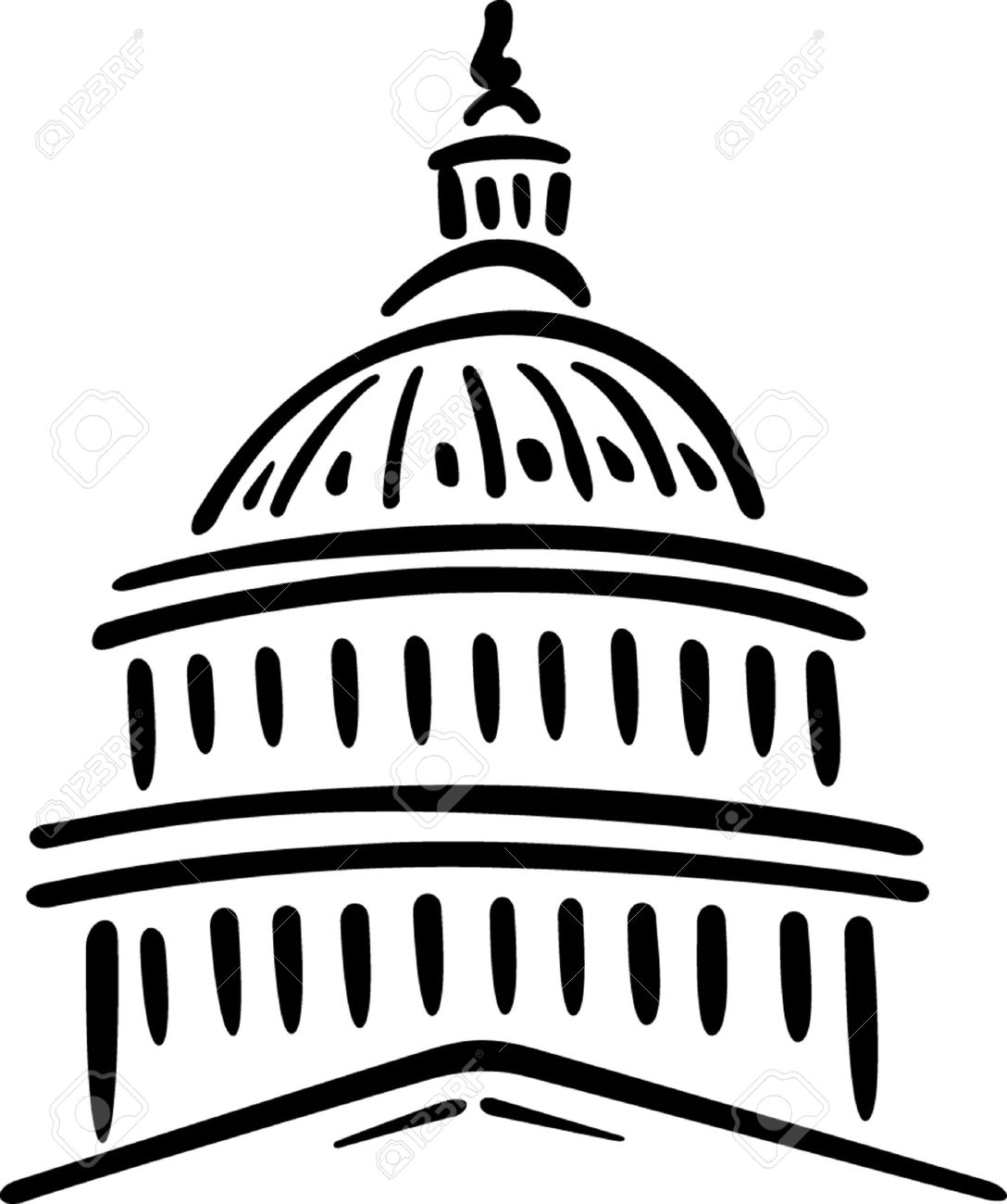 Illustration Of The U S Capitol, Washington D C Royalty Free.