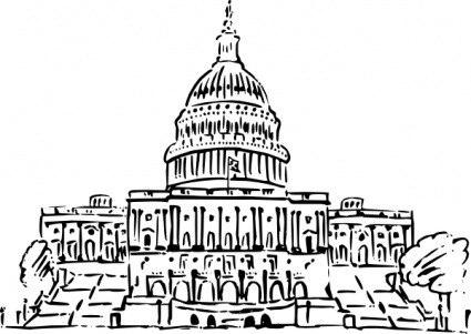 Us Capitol Building Inkpen Style clip art clip arts, free clipart.