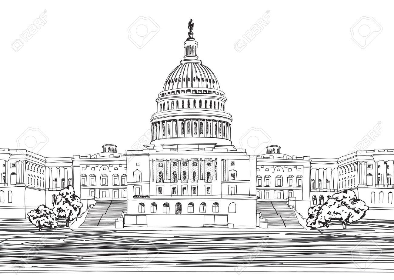 Capitol Building Washington Dc Stock Illustrations, Cliparts And.