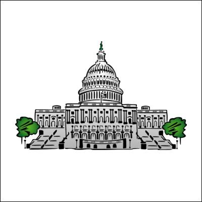 Legislative branch building clip art.