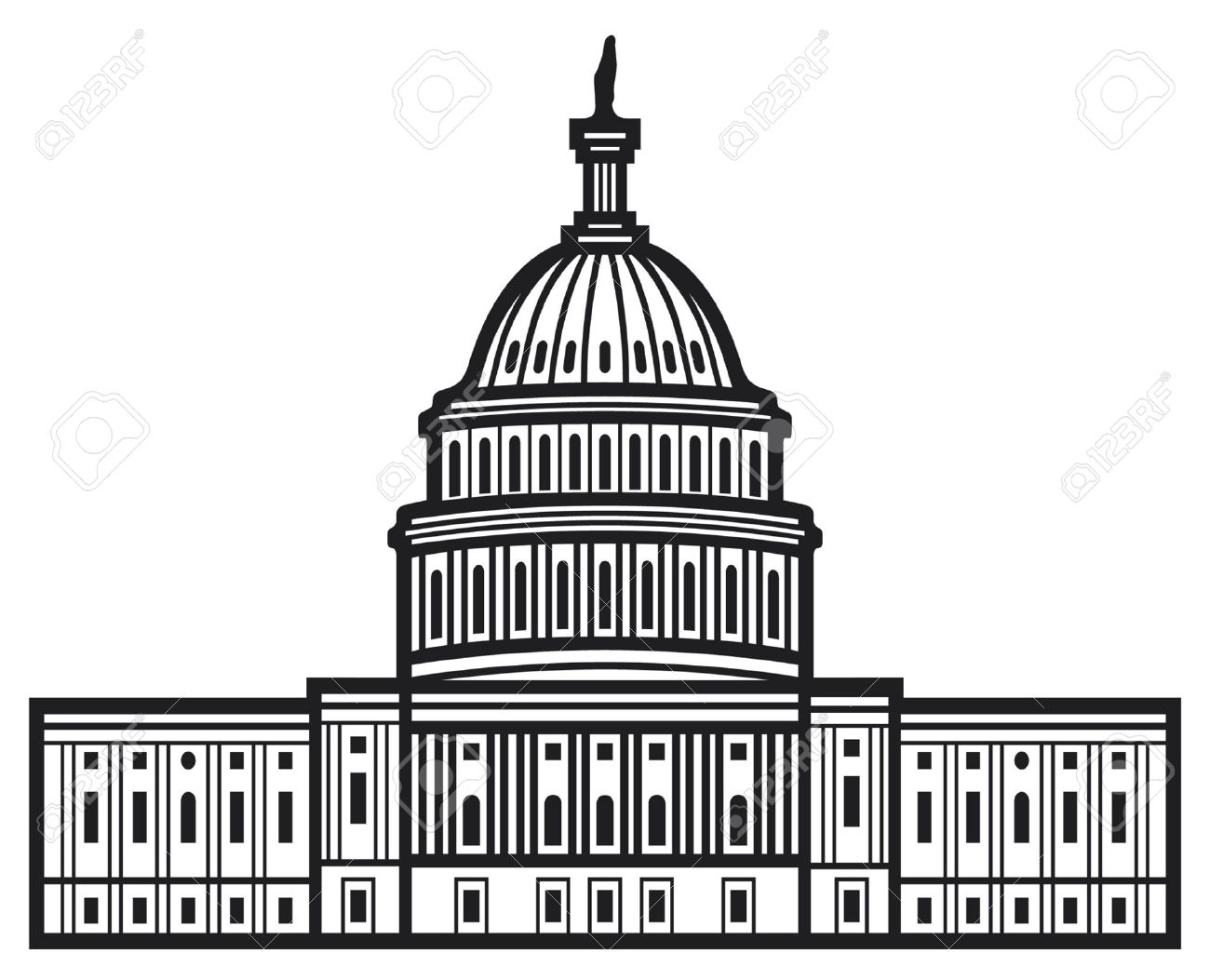 Congress building clipart.