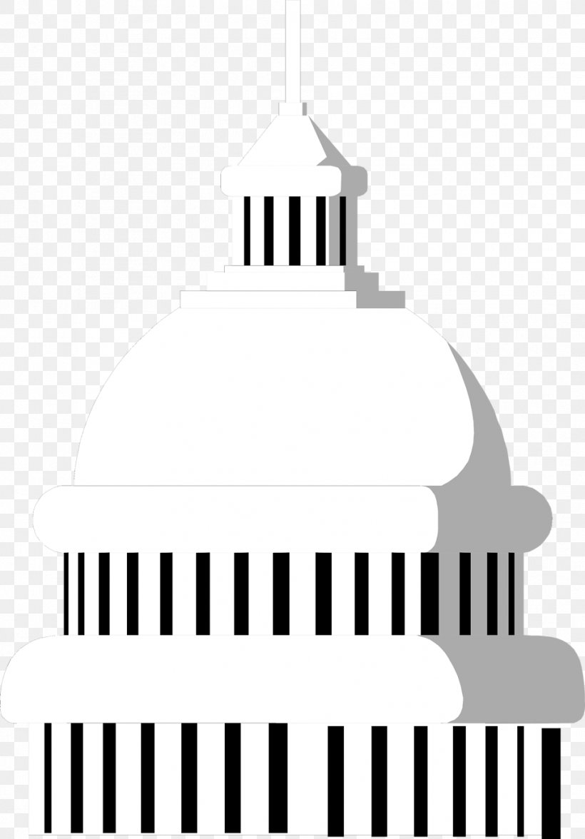 United States Capitol Dome Building Clip Art, PNG.