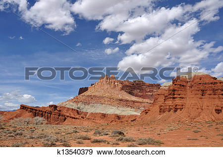 Stock Photograph of The Castle at Capitol Reef National Park.