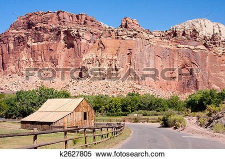 Stock Image of Barn at Capitol Reef National Park k2627805.