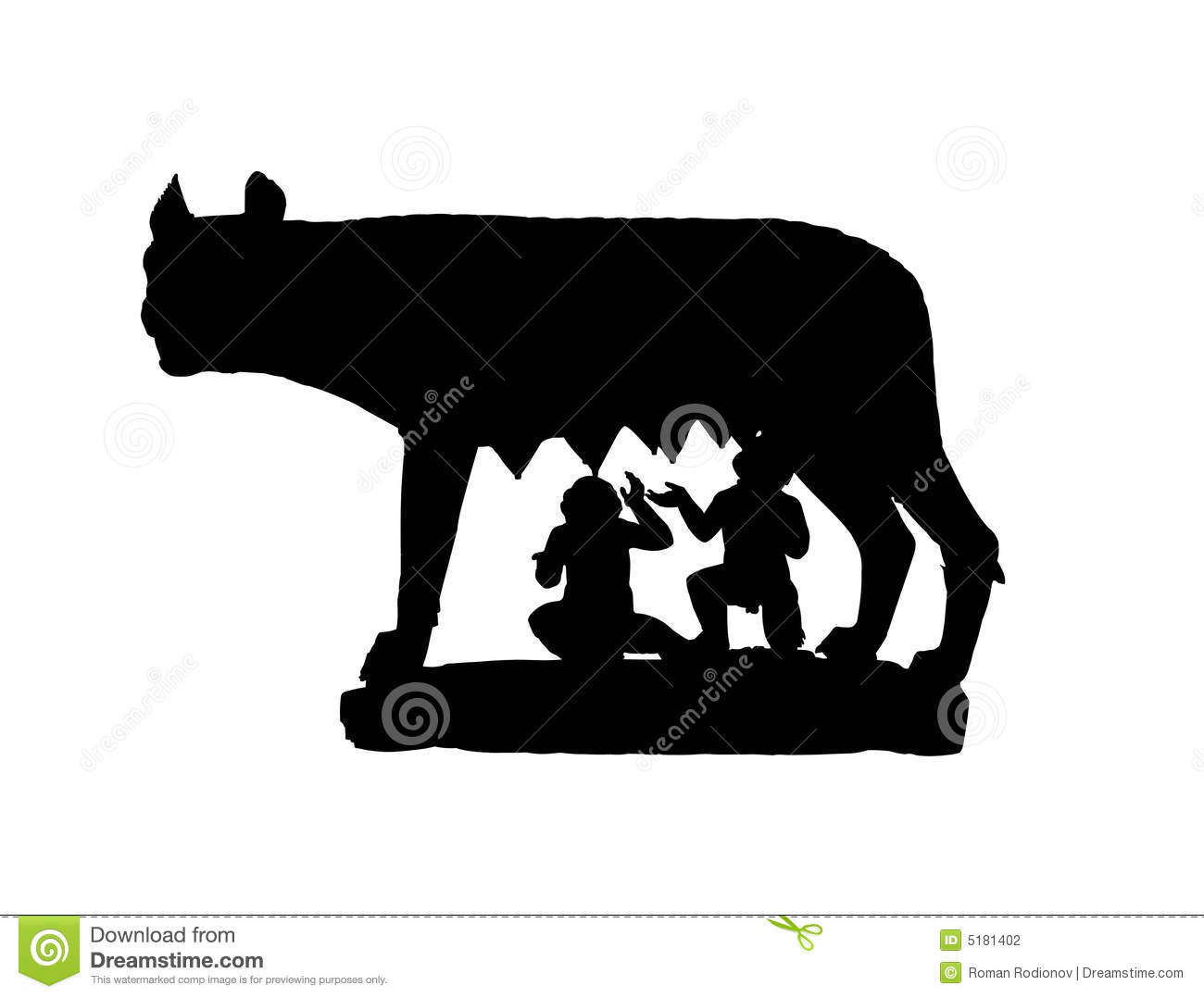 Capitoline Wolf Black Shadow Stock Photography.
