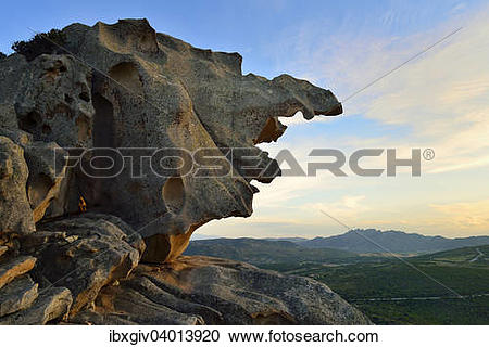 "Stock Photography of ""Rock formation on the Capo d'Orso in the."