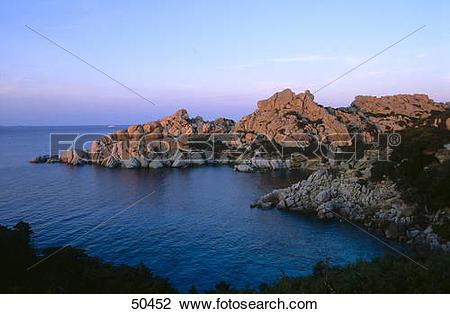 Stock Photo of Rock formations at coast, Valle Della Luna, Capo.