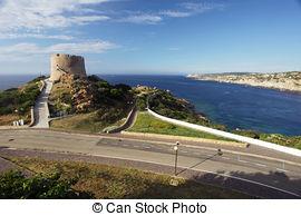 Pictures of small beach in Capo Testa, Sardinia csp41796688.