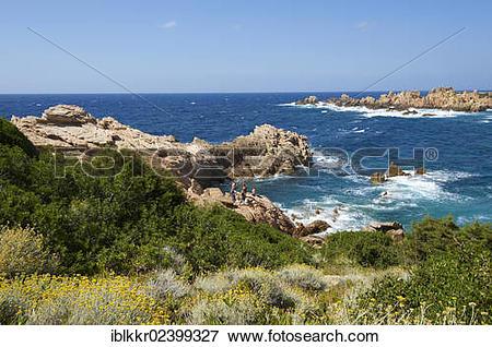 """Picture of """"Coast of Capo Testa near Santa Teresa di Gallura."""