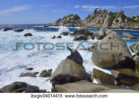 "Stock Image of ""Bizarre rock formations, Tafoni formations in the."