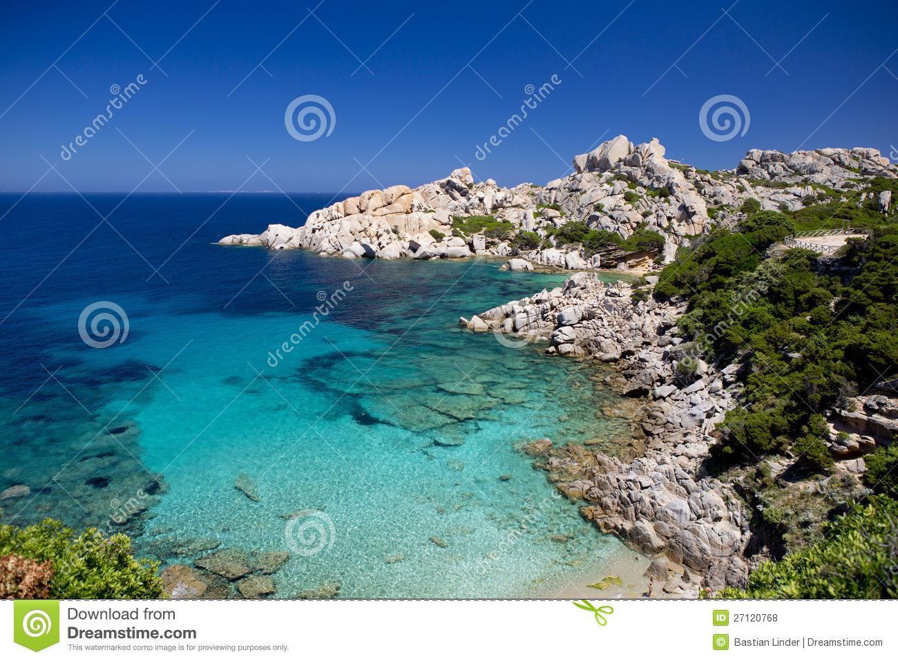Beach Sardinia Capo Testa Royalty Free Stock Photos.