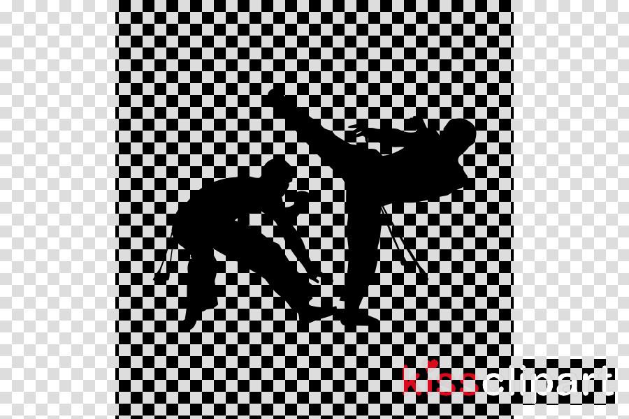 capoeira font silhouette kick clipart.