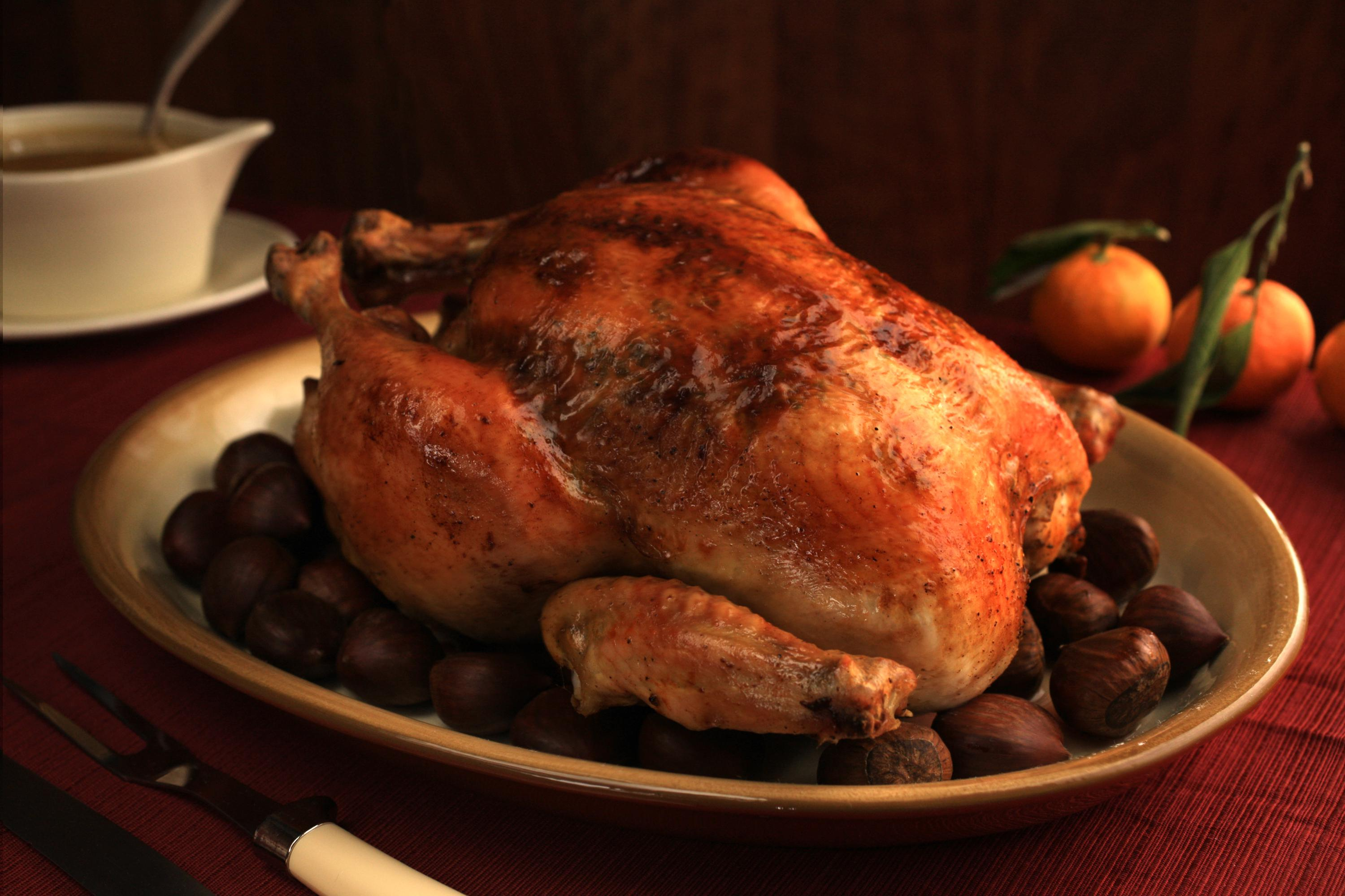 Roasted Capon with Citrus.