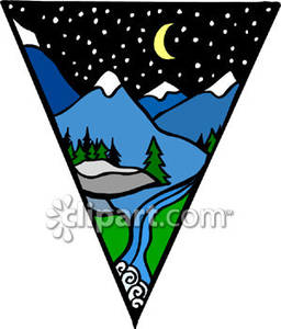 Mountian Hiking Clipart.