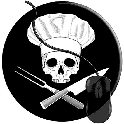Tappetino Da Gioco,Chef Skull Crossed Chef Coltello.