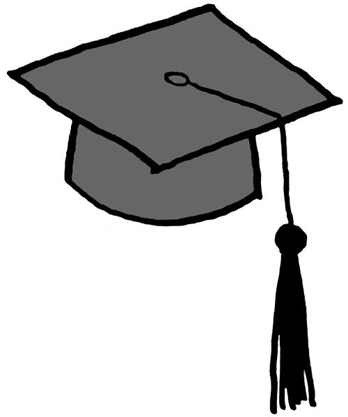 Graduation Cap Cartoon.