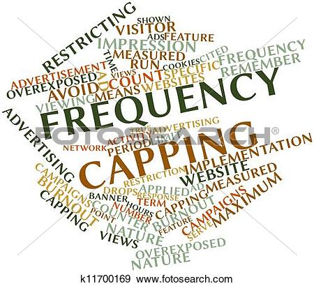 Stock Illustration of Word cloud for Frequency capping k11700169.