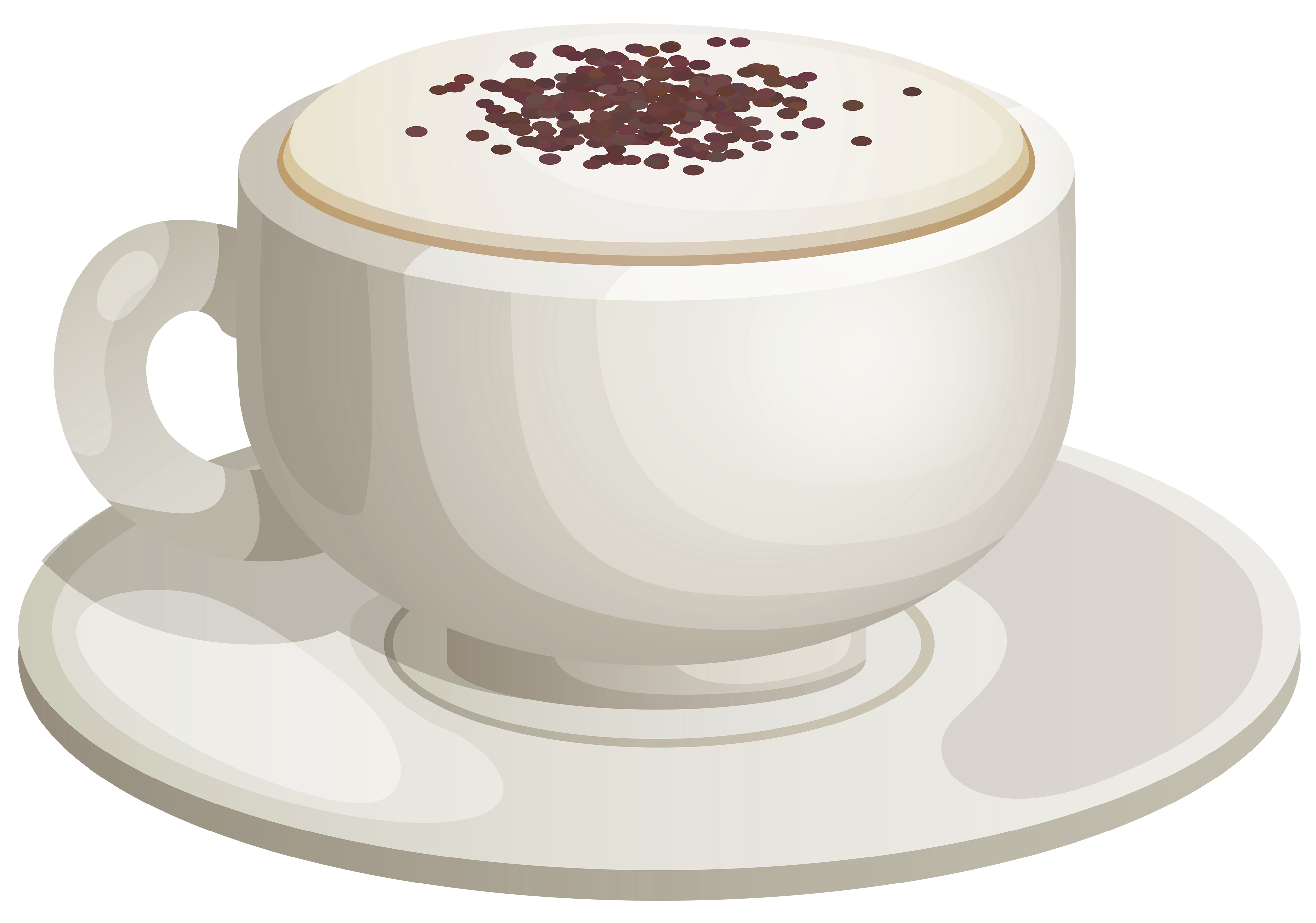 Cappuccino Cup PNG Clipart.