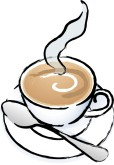 Steaming Coffee Clip Art and Menu Graphics.