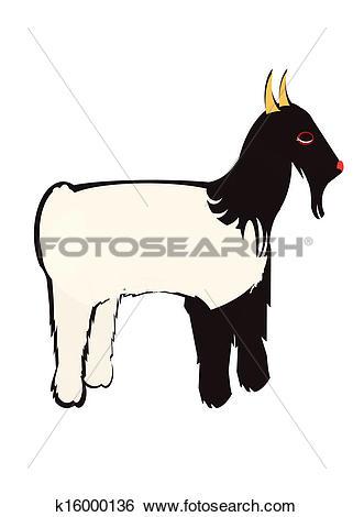 Clip Art of capra tibetana k16000136.