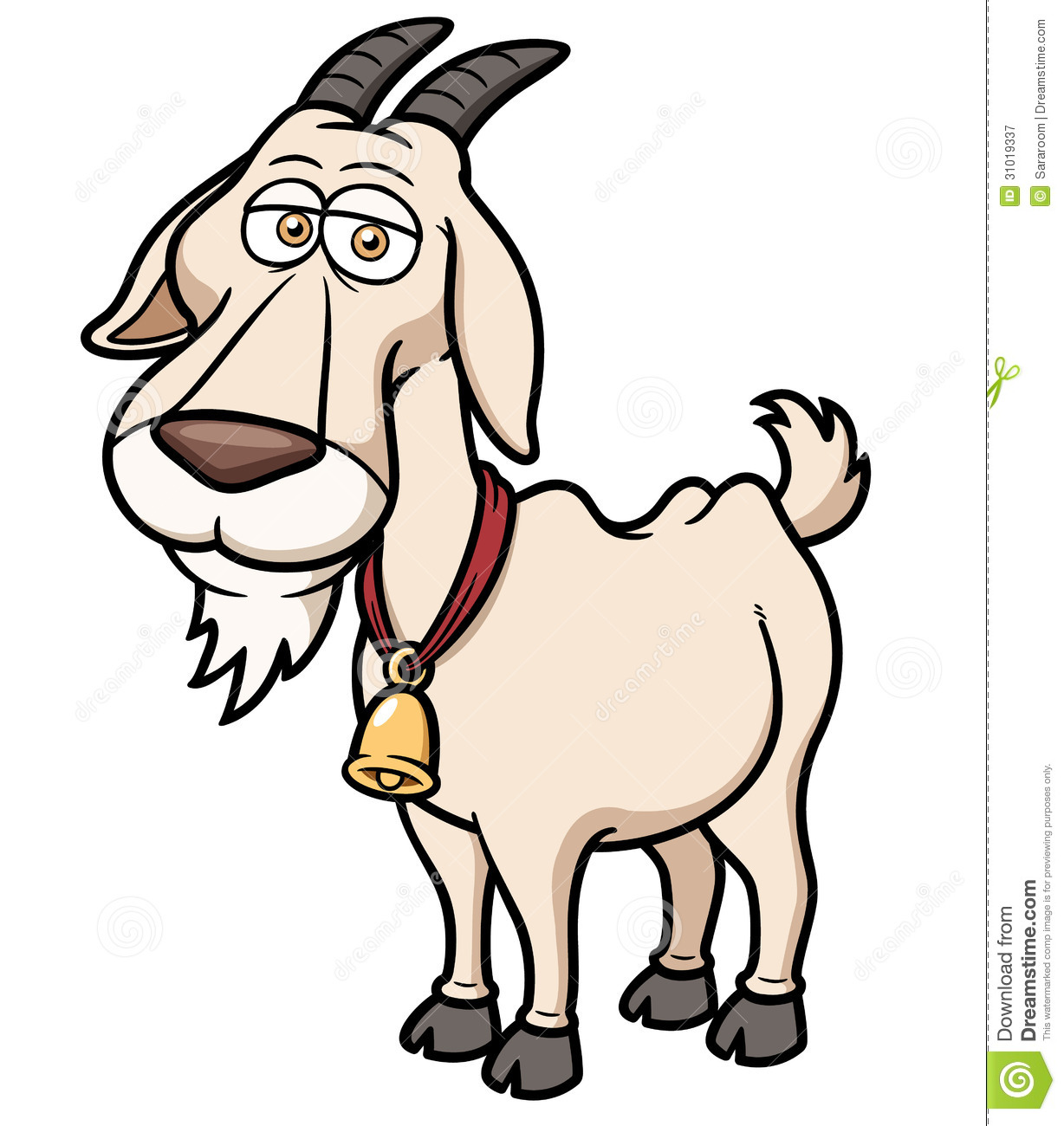 Cartoon Goat Clipart.