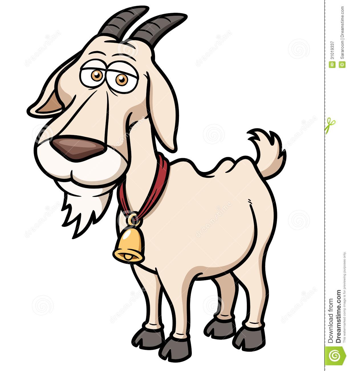 Cartoon Goat Clipart.